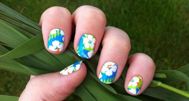 20 Hibiscus Nail Art Designs Ideas Design Trends Premium Psd