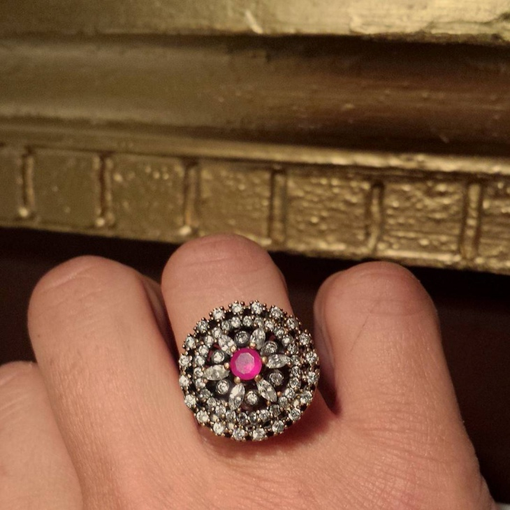Pink Topaz Ring Design