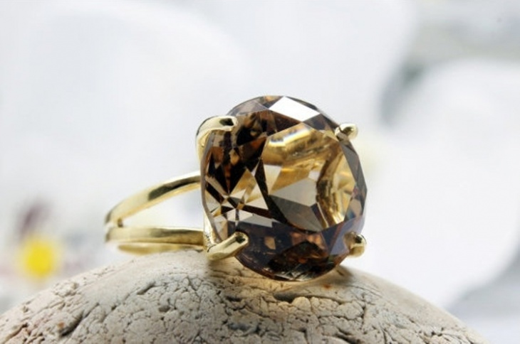 Smoky Topaz Ring Design
