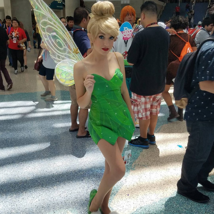 Tinkerbell Costume and Makeup