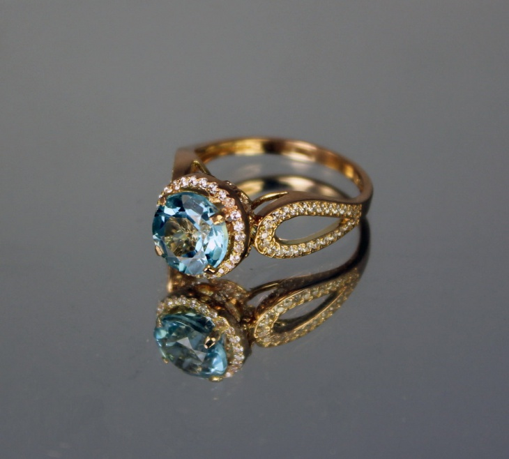 Gold Topaz Rings Idea