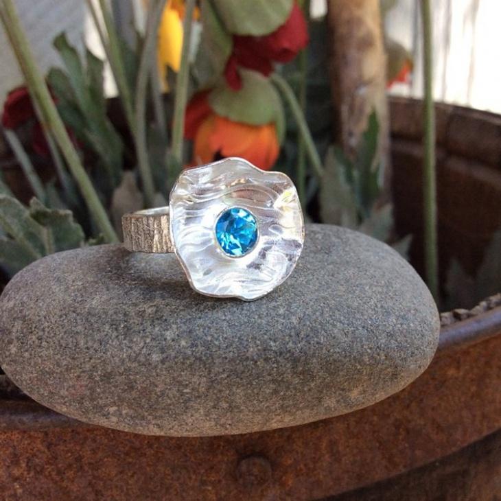 Silver Handmade Topaz Ring