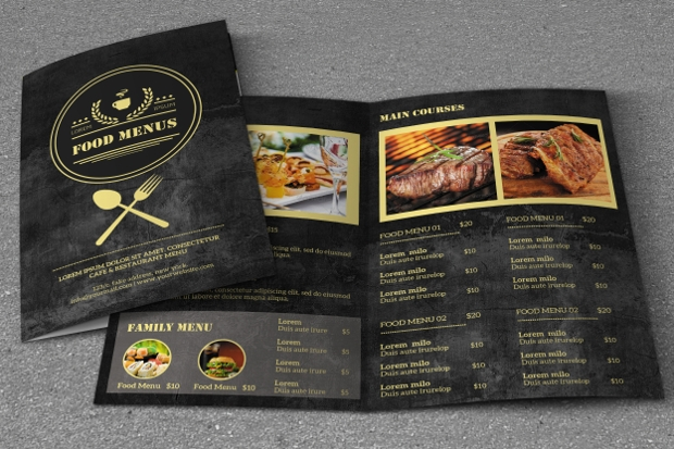 Retro Food Menu Brochure