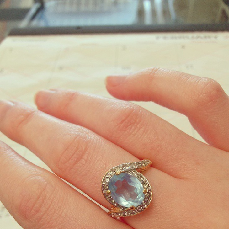 Classic Stone Topaz Ring