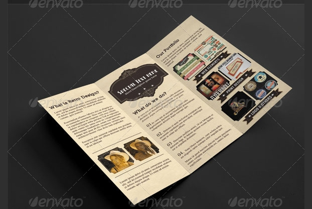 Retro Tri-fold Brochure Design