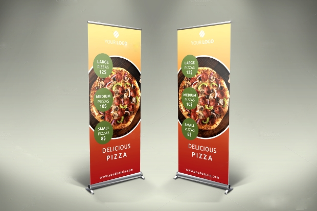 Pizza Roll-Up Banner