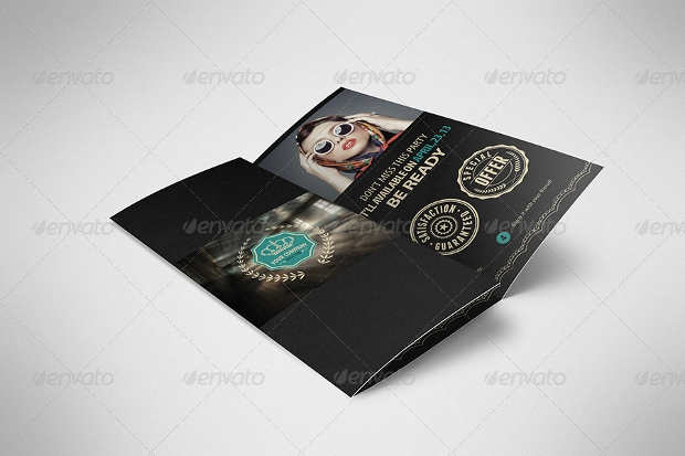 Luxury Retro Tri Fold Brochure