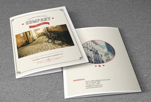 Retro Style Corporate Brochure Design