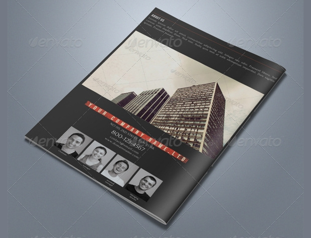 Retro Bi Fold Business Brochure