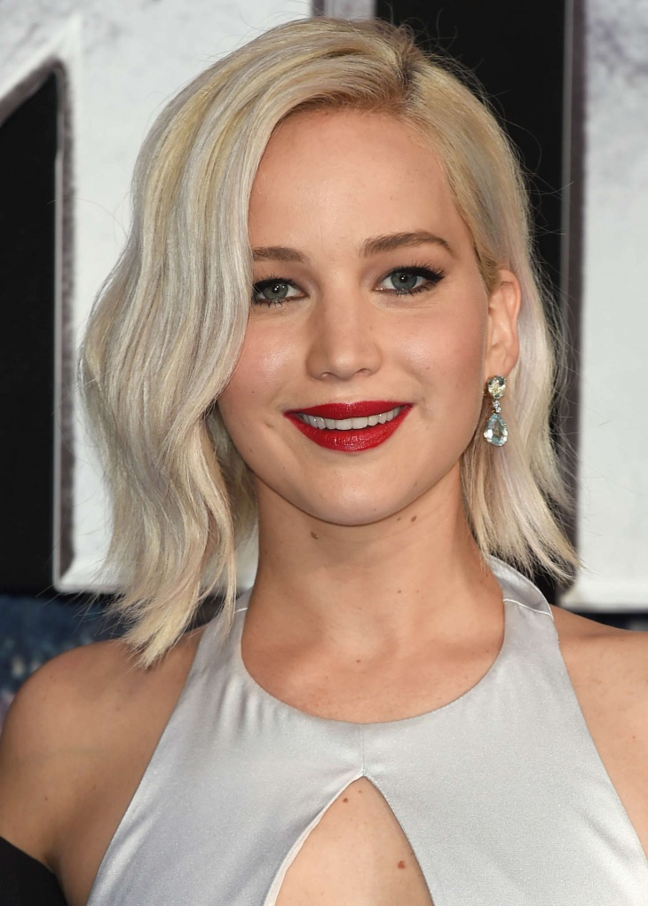 Jennifer Lawrence Blonde Pageboy Hairstyle