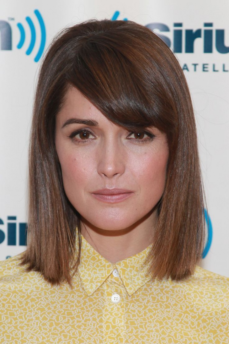 Rose Byrne Pageboy Haircut with Fringes