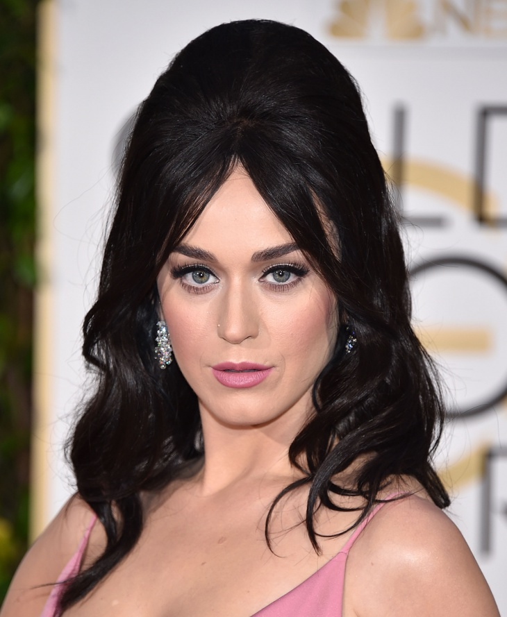 Katy Perry Teased Bump Hairstyle