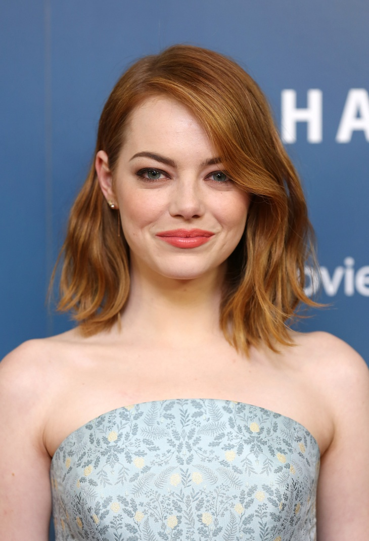 Emma Stone Long Pageboy Haircut