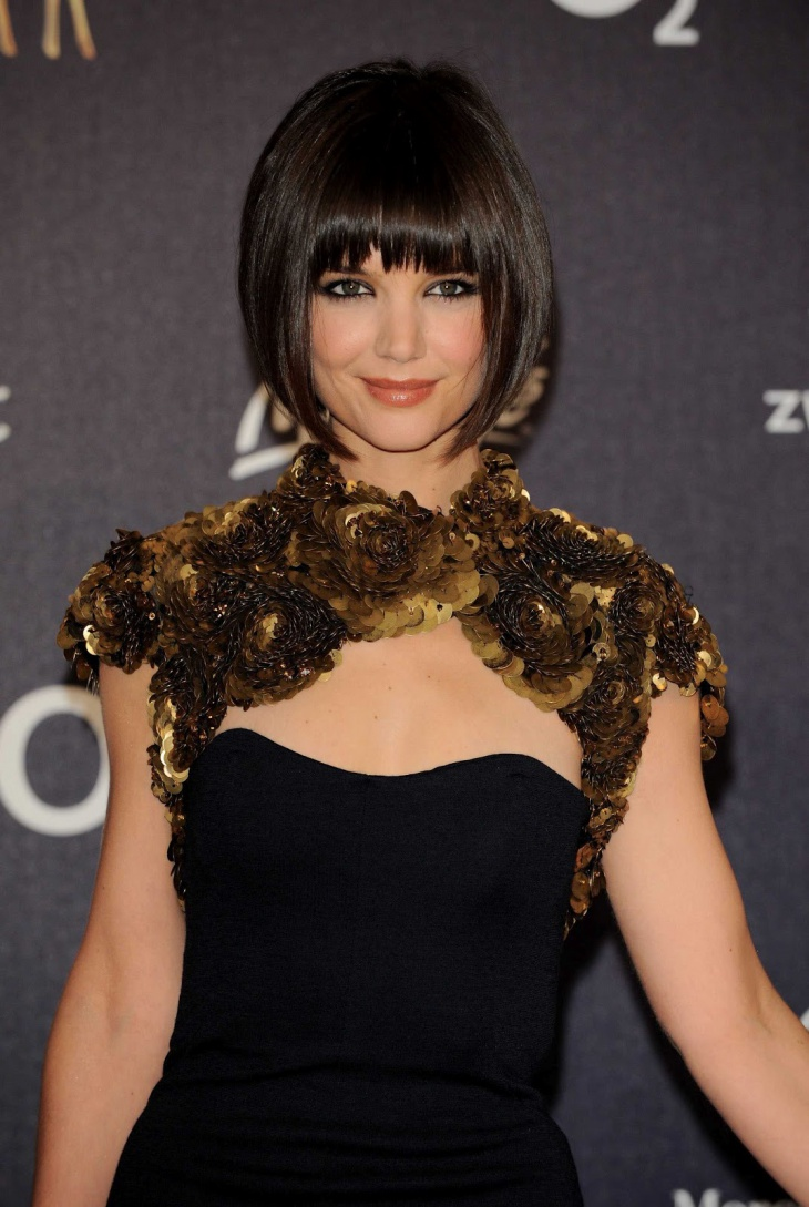 Katie Holmes Pageboy Haircut for Women