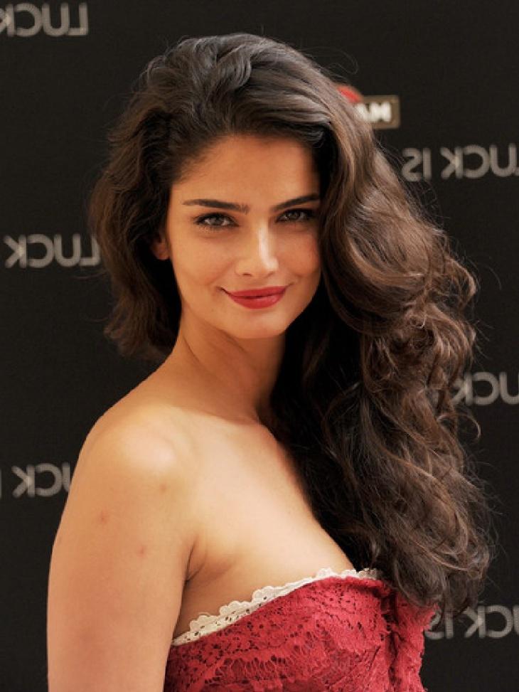 Shermine Sharivar Curls Teased Hairstyle