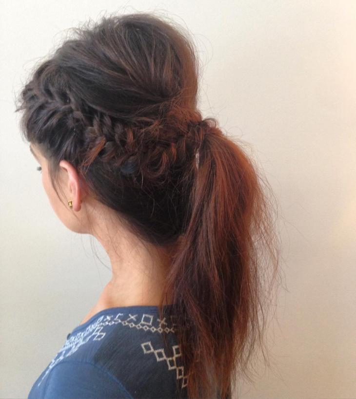 long teased locks hair