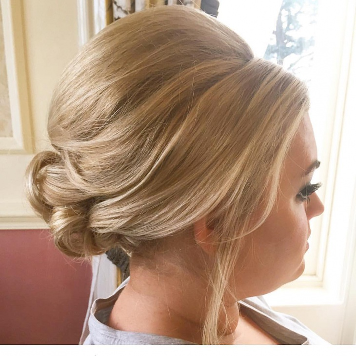 Updo Teased Hairstyle