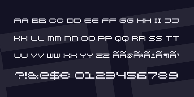pixel blocky science fiction font