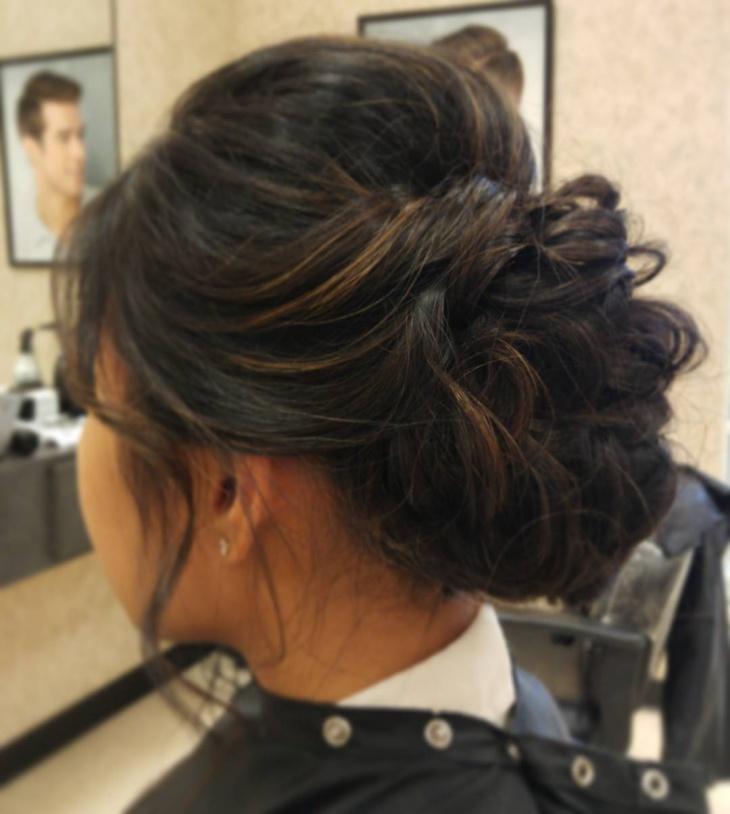 Trendy Teased Bun Hairstyle