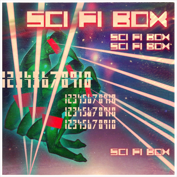 Retro Themed Sci Fi Photoshop Font
