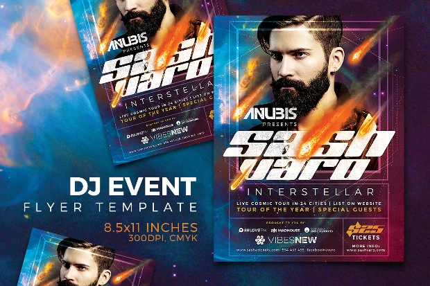 Abstract DJ Event Flyer Template