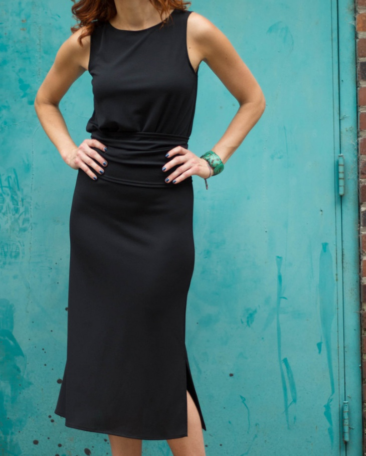 Black Blouson Dress