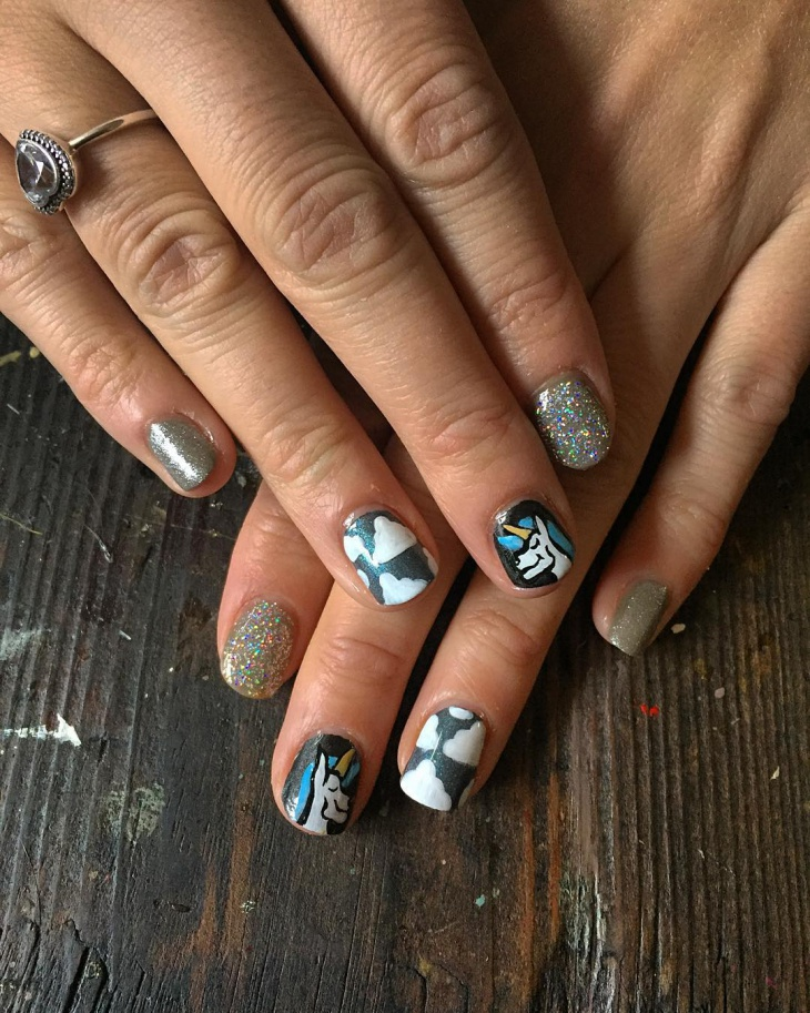 best unicorn nails design
