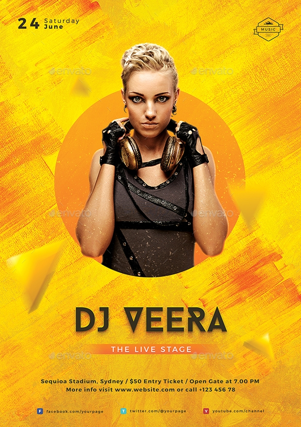 Colorful DJ Flyer Template