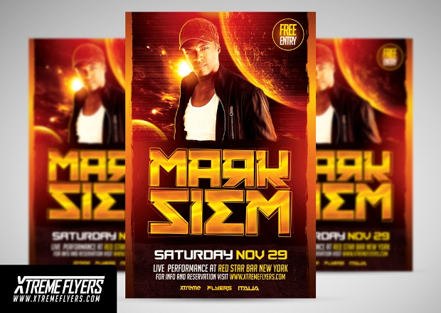 High Quality Dj Flyer Template
