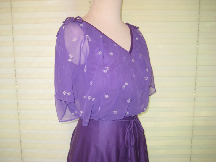 Purple Blouson Top Outfit