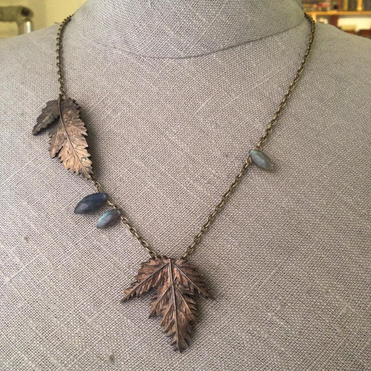nature inspired necklace design