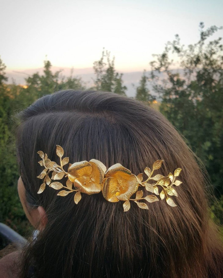 nature inspired bridal jewelry