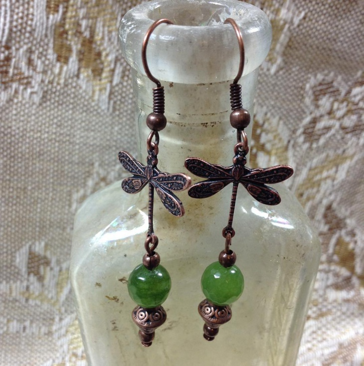 light weight dragonfly earrings