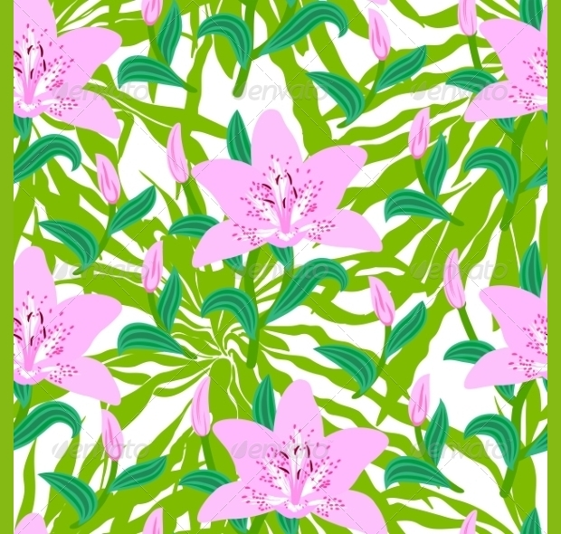 Floral Tropical Psd Pattern