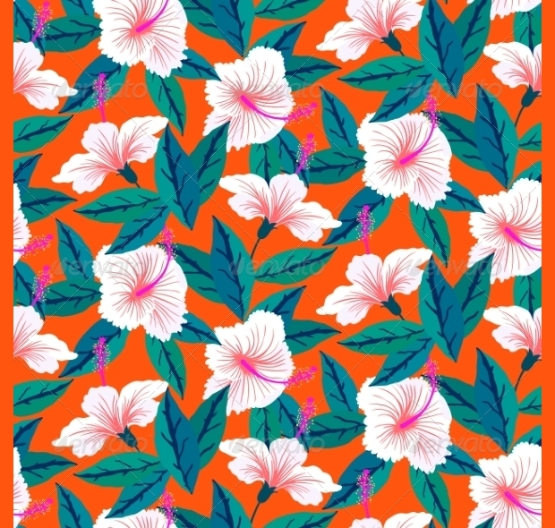 High Resolution Flowers Pattern