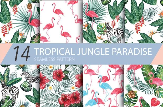 Tropical Jungle Paradise Pattern