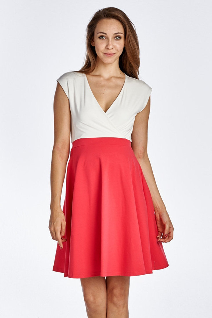 Sleeveless Surplice Dress
