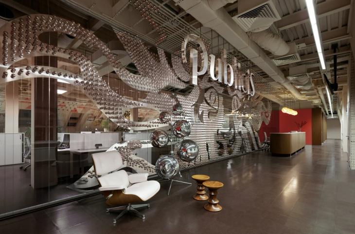 modern office silver wall art design