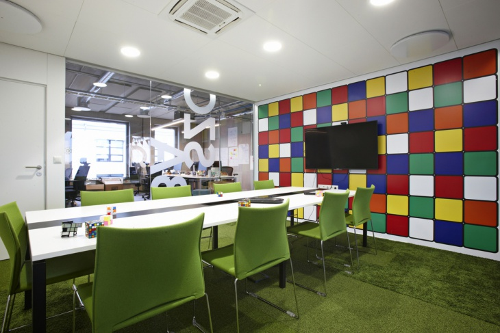 Meeting Room with Colorful Wall Art