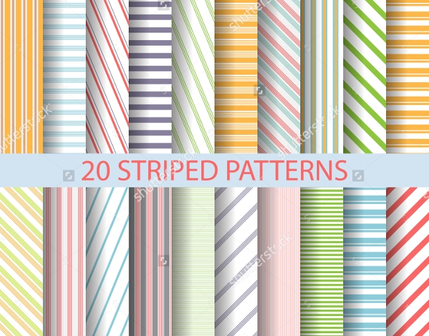 Colored Stripes Seamless Patterns