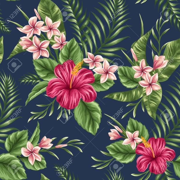 tropical season seamless pattern
