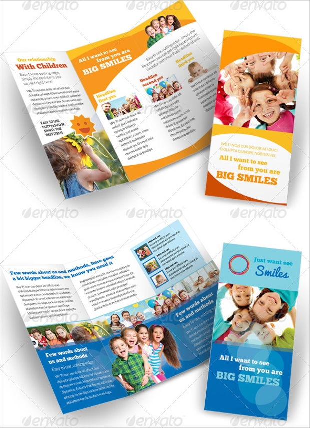 Child Care Kindergarten Brochure