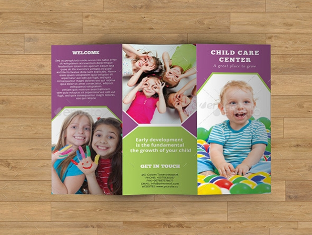 Child Care Center Trifold Brochure