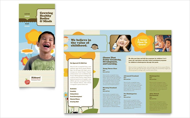 Child Care School Trifold Brochure