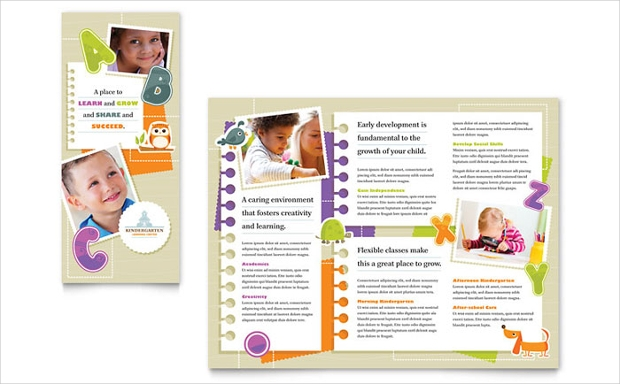 Trifold Child Care Brochure Design