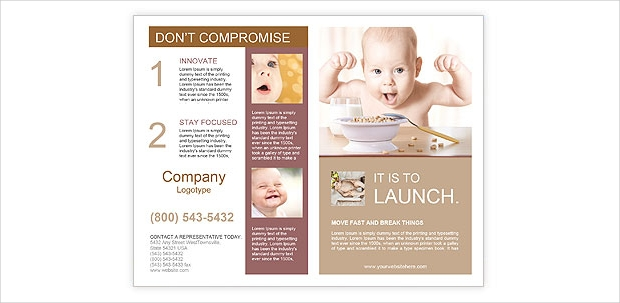 Happy baby Brochure Template