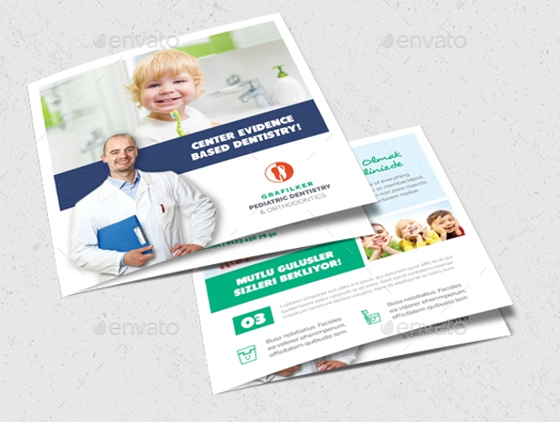 Child Care Dental Brochure Design