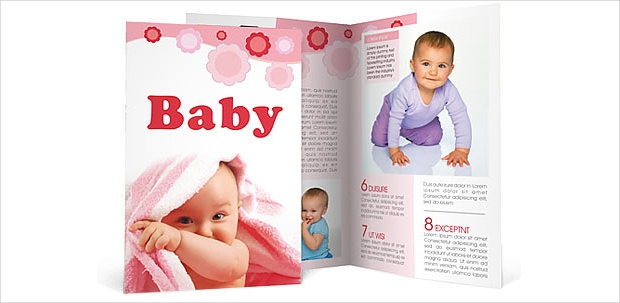 Baby Care Brochure Template