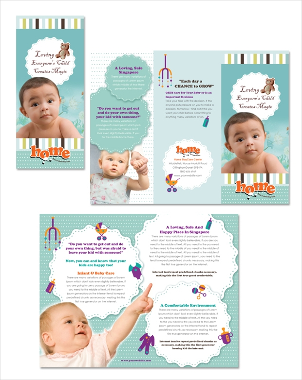 Child Day Care Tri Fold Brochure