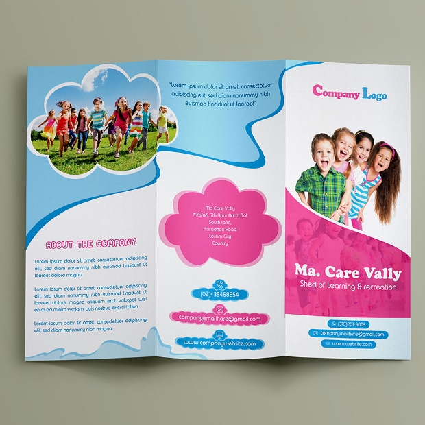 17 child care brochures free psd ai indesign vector for Child care brochure template free